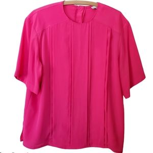 Hot pink blouse by Collections Internationale